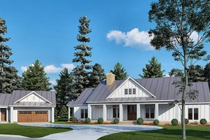 House Blueprint - Country Exterior - Front Elevation Plan #923-211