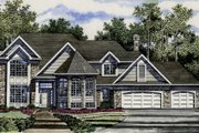 European Style House Plan - 4 Beds 3 Baths 2875 Sq/Ft Plan #316-104 Exterior - Front Elevation