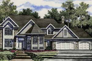 European Exterior - Front Elevation Plan #316-104
