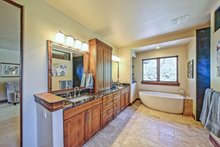 Architectural House Design - Adobe / Southwestern Interior - Master Bathroom Plan #451-25