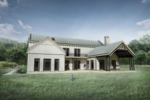 Farmhouse Exterior - Rear Elevation Plan #924-5
