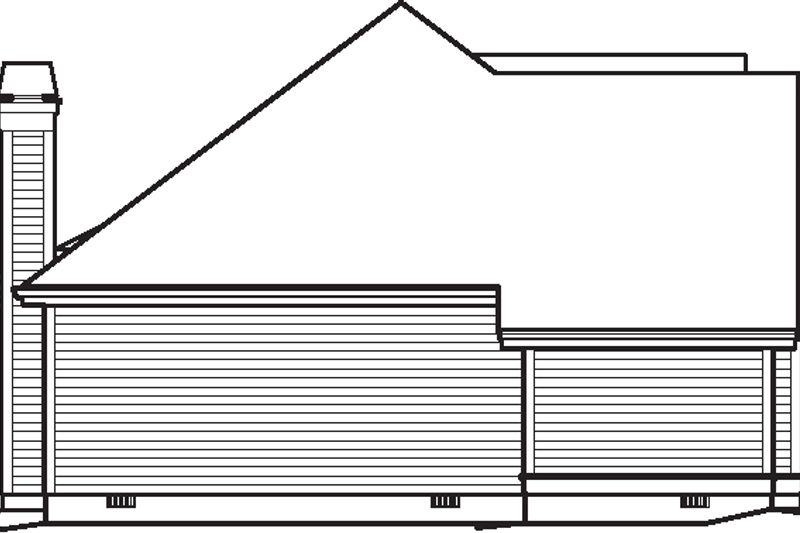 Home Plan - Traditional Exterior - Other Elevation Plan #57-584