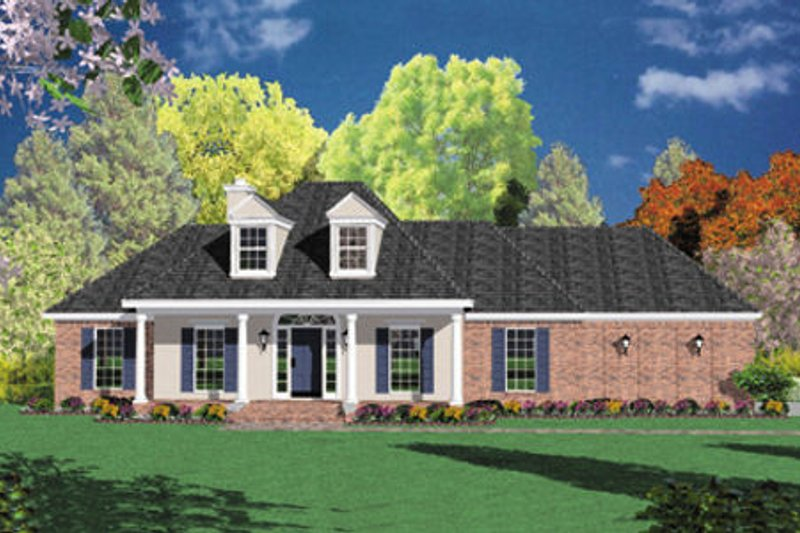 Southern Exterior - Front Elevation Plan #36-174