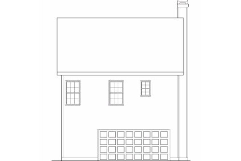 Southern Exterior - Rear Elevation Plan #419-151 - Houseplans.com