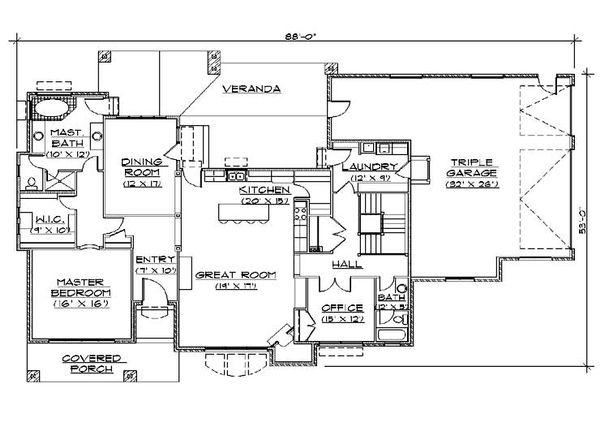 European Floor Plan - Main Floor Plan Plan #5-355