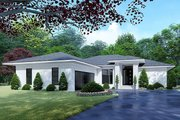 Mediterranean Style House Plan - 4 Beds 2 Baths 1649 Sq/Ft Plan #923-124 Exterior - Front Elevation