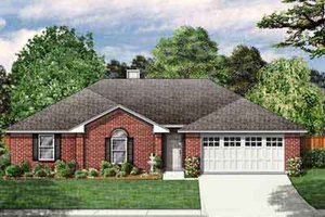 Traditional Exterior - Front Elevation Plan #84-203