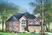European Style House Plan - 5 Beds 3 Baths 5609 Sq/Ft Plan #25-4690 Exterior - Front Elevation