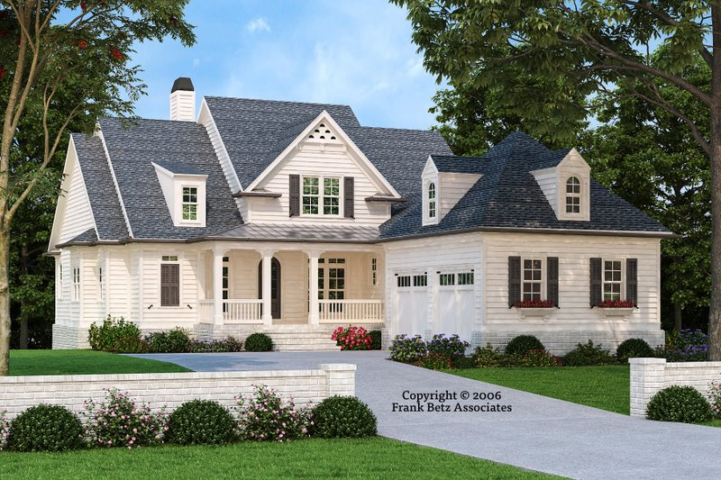 Country Exterior - Front Elevation Plan #927-435
