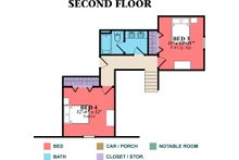 Country Floor Plan - Upper Floor Plan Plan #63-270