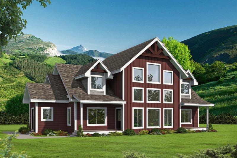 House Plan Design - Farmhouse Exterior - Front Elevation Plan #117-897