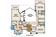 Mediterranean Style House Plan - 4 Beds 4 Baths 3448 Sq/Ft Plan #27-206 Floor Plan - Upper Floor