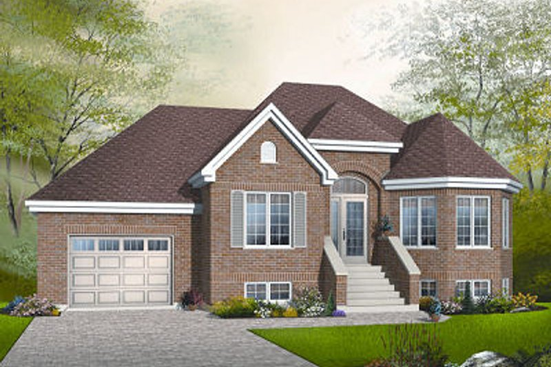 European Exterior - Front Elevation Plan #23-793 - Houseplans.com