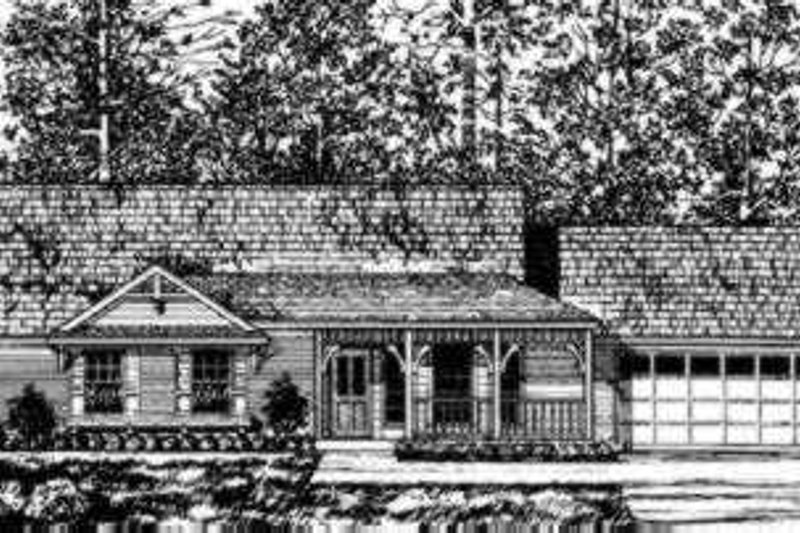 Traditional Exterior - Front Elevation Plan #40-251 - Houseplans.com