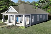 Craftsman Style House Plan - 3 Beds 2 Baths 1587 Sq/Ft Plan #44-232 Exterior - Other Elevation