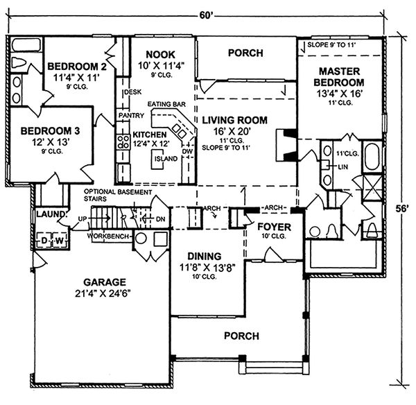 Farmhouse Floor Plan - Main Floor Plan Plan #20-119
