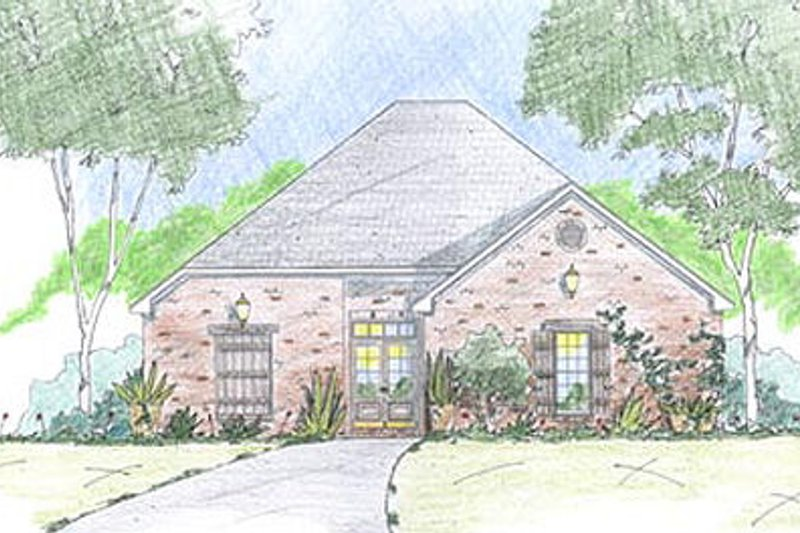 European Exterior - Front Elevation Plan #36-459