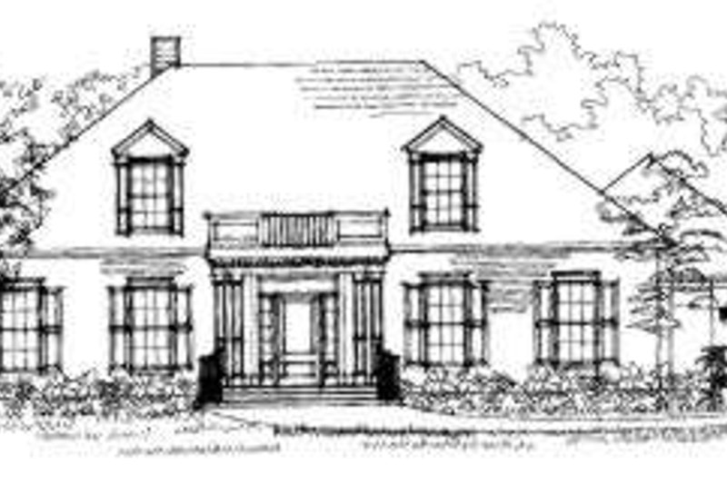 Southern Exterior - Front Elevation Plan #325-196 - Houseplans.com