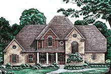 Dream House Plan - Traditional Exterior - Front Elevation Plan #20-1086