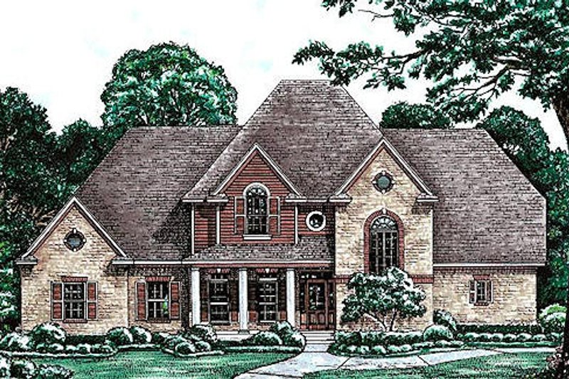 Traditional Exterior - Front Elevation Plan #20-1086 - Houseplans.com