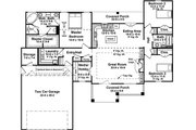Craftsman Style House Plan - 3 Beds 2 Baths 1801 Sq/Ft Plan #21-382 Floor Plan - Main Floor