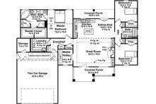 Craftsman Floor Plan - Main Floor Plan Plan #21-382