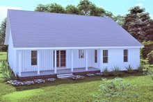 House Design - Traditional Exterior - Rear Elevation Plan #44-250