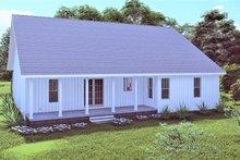 House Plan Design - Traditional Exterior - Rear Elevation Plan #44-250