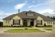European Style House Plan - 4 Beds 3.5 Baths 3197 Sq/Ft Plan #472-17 Exterior - Front Elevation