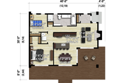 Cottage Style House Plan - 2 Beds 1 Baths 1060 Sq/Ft Plan #25-4935