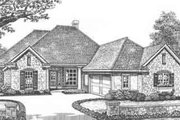 Traditional Style House Plan - 4 Beds 3 Baths 2193 Sq/Ft Plan #310-400 Exterior - Front Elevation