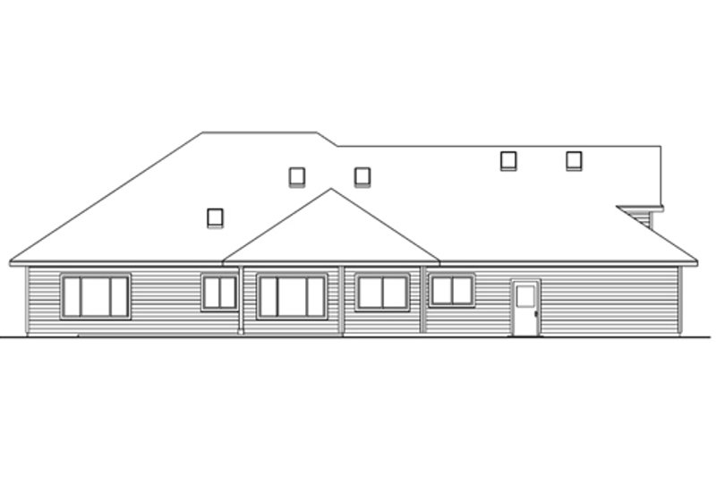 Exterior - Rear Elevation Plan #124-605 - Houseplans.com