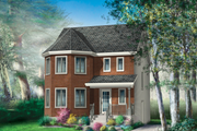Victorian Style House Plan - 3 Beds 1 Baths 1442 Sq/Ft Plan #25-4673 Exterior - Front Elevation