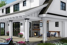 Dream House Plan - Farmhouse Exterior - Rear Elevation Plan #51-1148