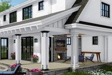 Architectural House Design - Farmhouse Exterior - Rear Elevation Plan #51-1148