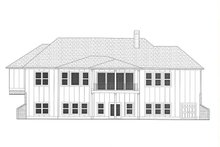House Plan Design - Modern Exterior - Rear Elevation Plan #437-127