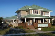 Prairie Style House Plan - 3 Beds 2.5 Baths 2660 Sq/Ft Plan #454-6 Exterior - Front Elevation