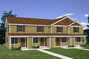 Traditional Style House Plan - 2 Beds 1 Baths 3492 Sq/Ft Plan #116-298 Exterior - Front Elevation