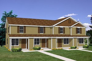 Traditional Exterior - Front Elevation Plan #116-298