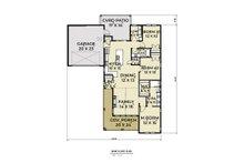 Craftsman Floor Plan - Main Floor Plan Plan #1070-90