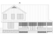 Country Exterior - Rear Elevation Plan #932-59