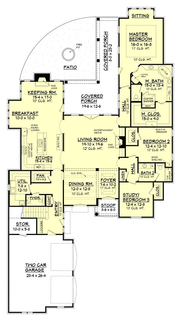 European Floor Plan - Main Floor Plan Plan #430-109