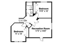 Traditional Floor Plan - Upper Floor Plan Plan #124-382