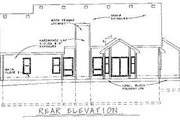 Traditional Style House Plan - 2 Beds 2 Baths 1924 Sq/Ft Plan #20-622 Exterior - Rear Elevation