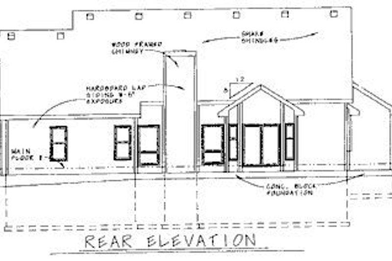 Traditional Exterior - Rear Elevation Plan #20-622 - Houseplans.com