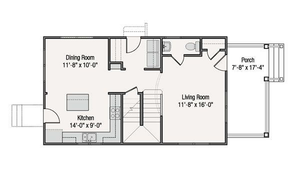 Craftsman Floor Plan - Main Floor Plan Plan #461-38