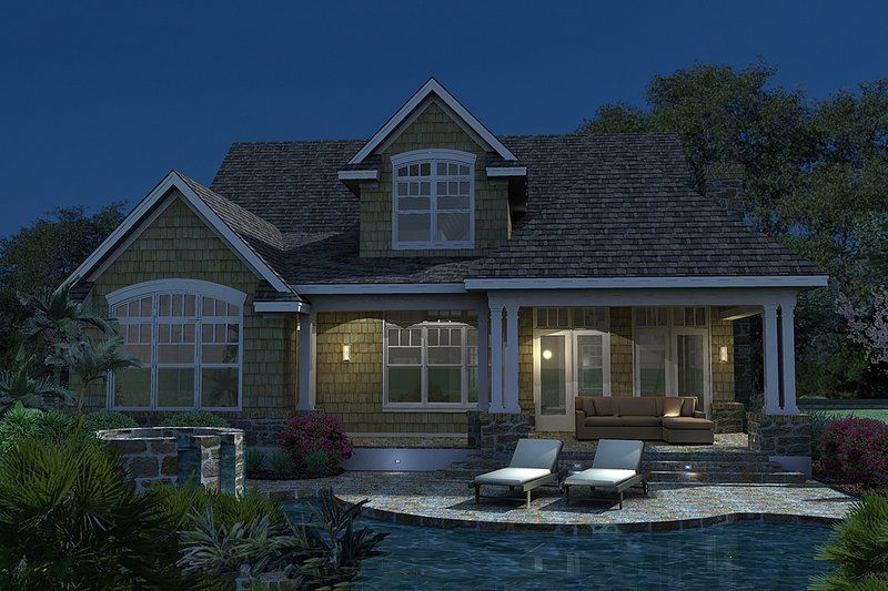 Traditional Exterior - Rear Elevation Plan #120-166 - Houseplans.com