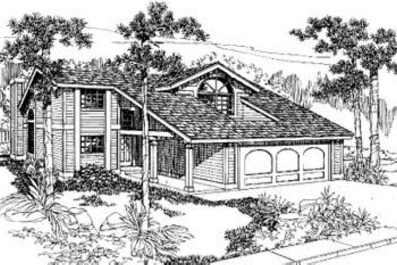 Bungalow Exterior - Front Elevation Plan #60-310
