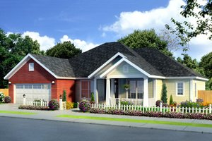 Country Exterior - Front Elevation Plan #513-16