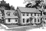 Colonial Style House Plan - 3 Beds 2.5 Baths 2262 Sq/Ft Plan #10-242